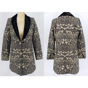 Soft Surrounding | Black and Gold Brocade Jacket -